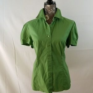 George 97%cotton,3%spandex stretch 5 green blouse